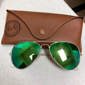 Ray-Ban green mirrored sunnies
